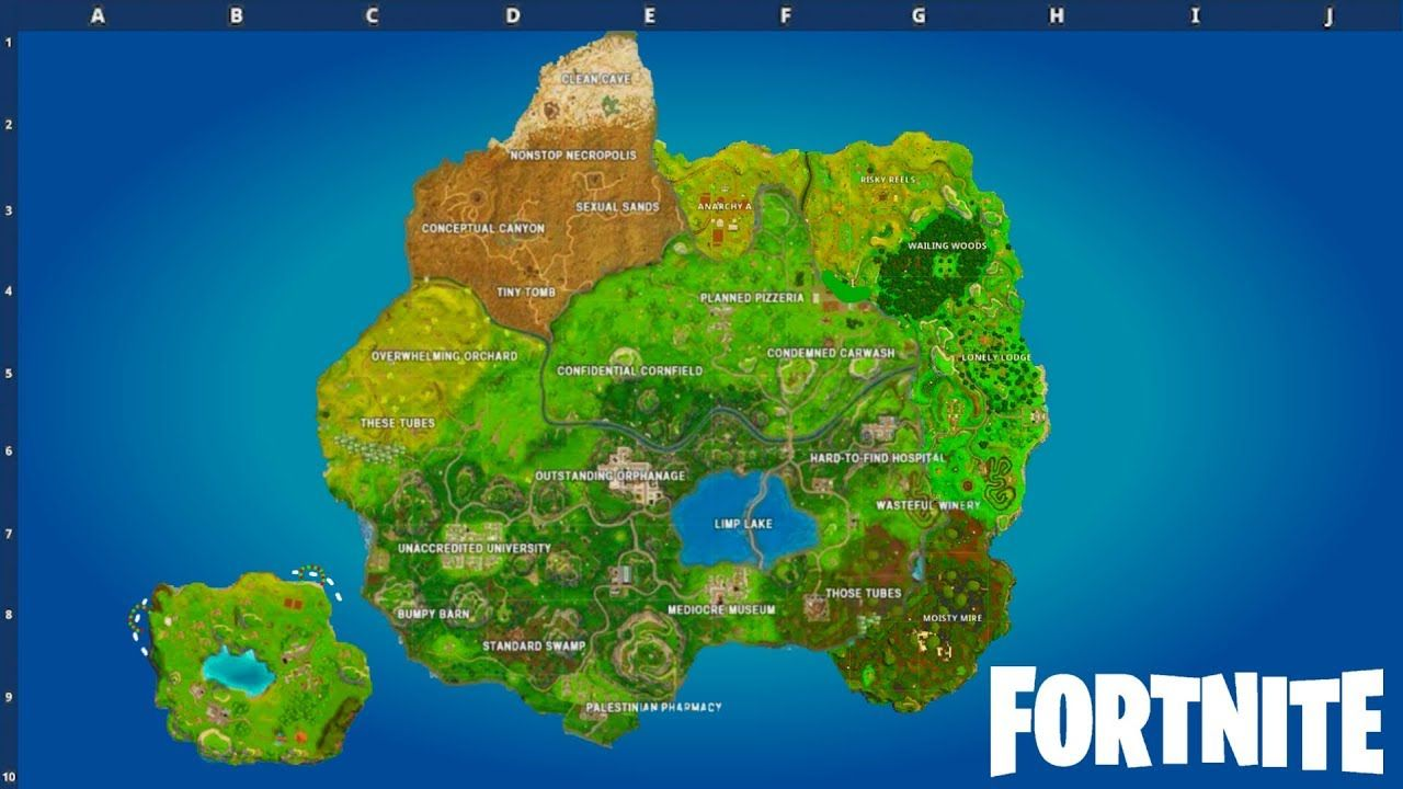 Image Result For Fortnite Map Fiestas De Cumpleaños