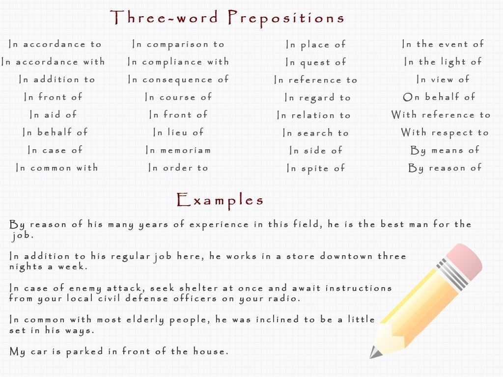 Complex Prepositions Definition And Examples