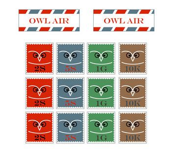 Owl Post Stamps
