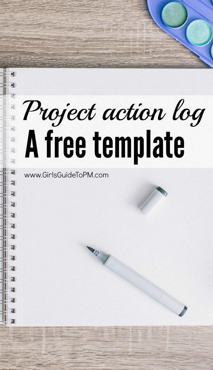Project Contact List Template Free Project Action Log Template  Project Management  Pinterest .