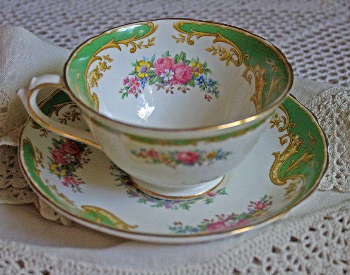 Antique Tea Set By Tuscan Bone China
