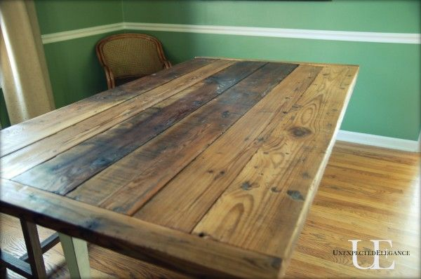 Elegant Make Your Own Barn Wood Table With A Step By Step Tutorial From Unexpected