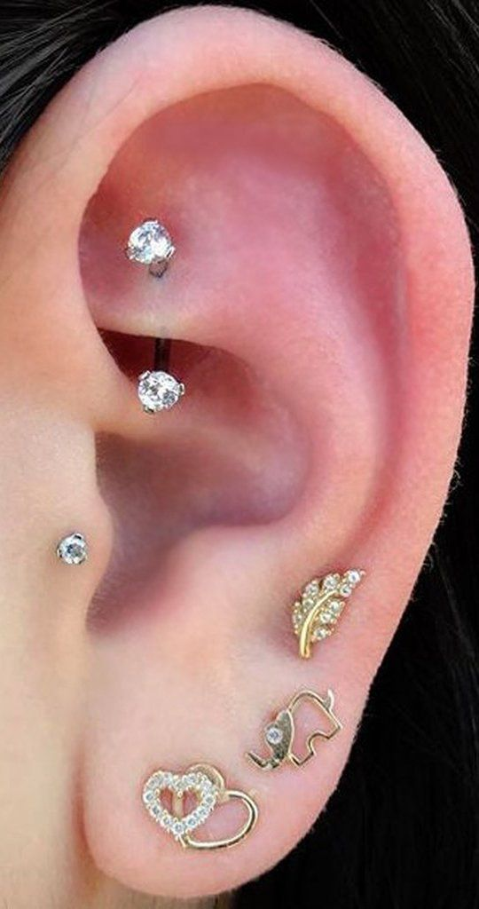Cute Rook Ear Piercing Jewelry Curved Barbell Earring 16g Www