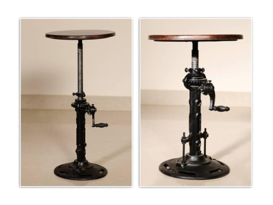 vintage iron industrial ecl furniture bar stool wooden top restaurant chair ebay