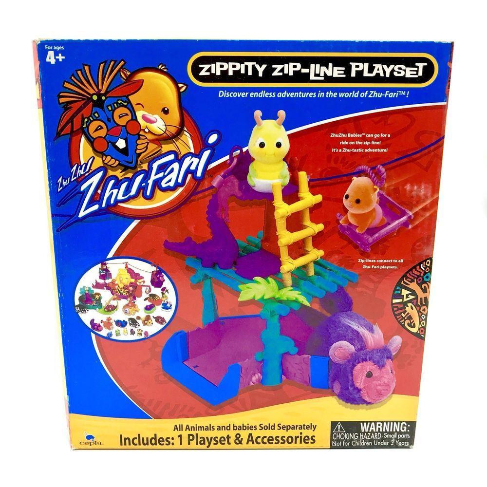 Zhu Fari Zippity Zip Line Play Set Kids Toy Gift Playset