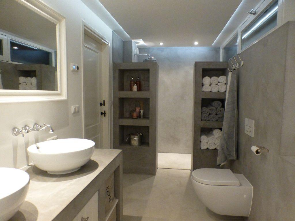 waterdicht stucwerk badkamer mortex color woonhuis linschoten 12 ...