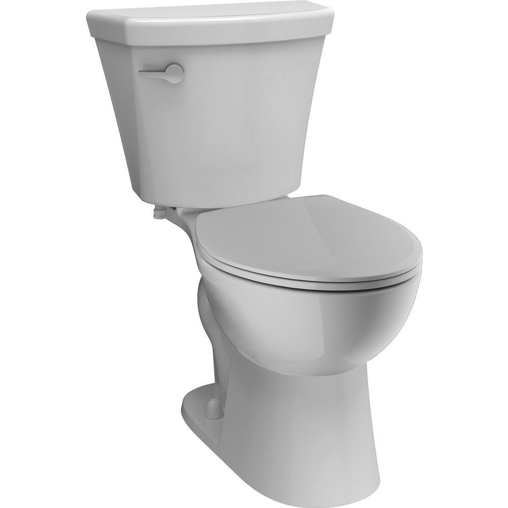 Delta Turner 2 Piece 1 28 Gpf Single Flush Round Front Toilet In White C41908 Wh Toilet Frameless Sliding Shower Doors Delta Faucets