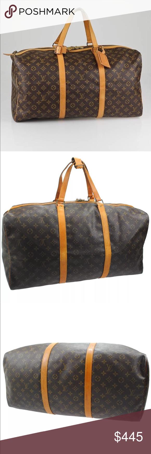Authentic Louis Vuitton Sac Souple 55 Travel This vintage Louis Vuitton  Monogram Canvas Sac Souple is 9b8ef0519dd37