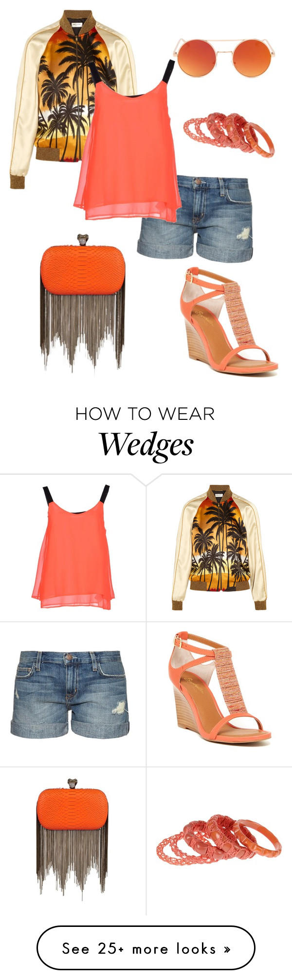 """Untitled #761"" by srlangley on Polyvore featuring House of Harlow 1960, Current/Elliott, Jamin Puech, Yves Saint Laurent, Seychelles and ONLY"