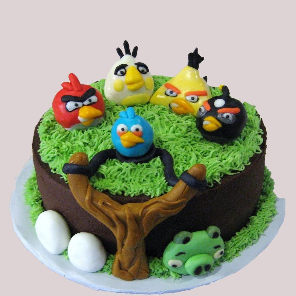 Surprising Angry Bird Theme Cake In 2020 Angry Birds Birthday Cake Cake Funny Birthday Cards Online Fluifree Goldxyz