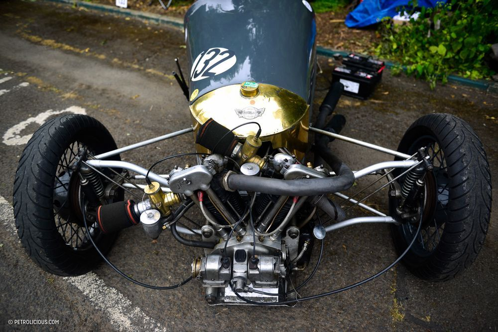 Hillclimbing at Chateau Impney is a Heaven of Smoke and