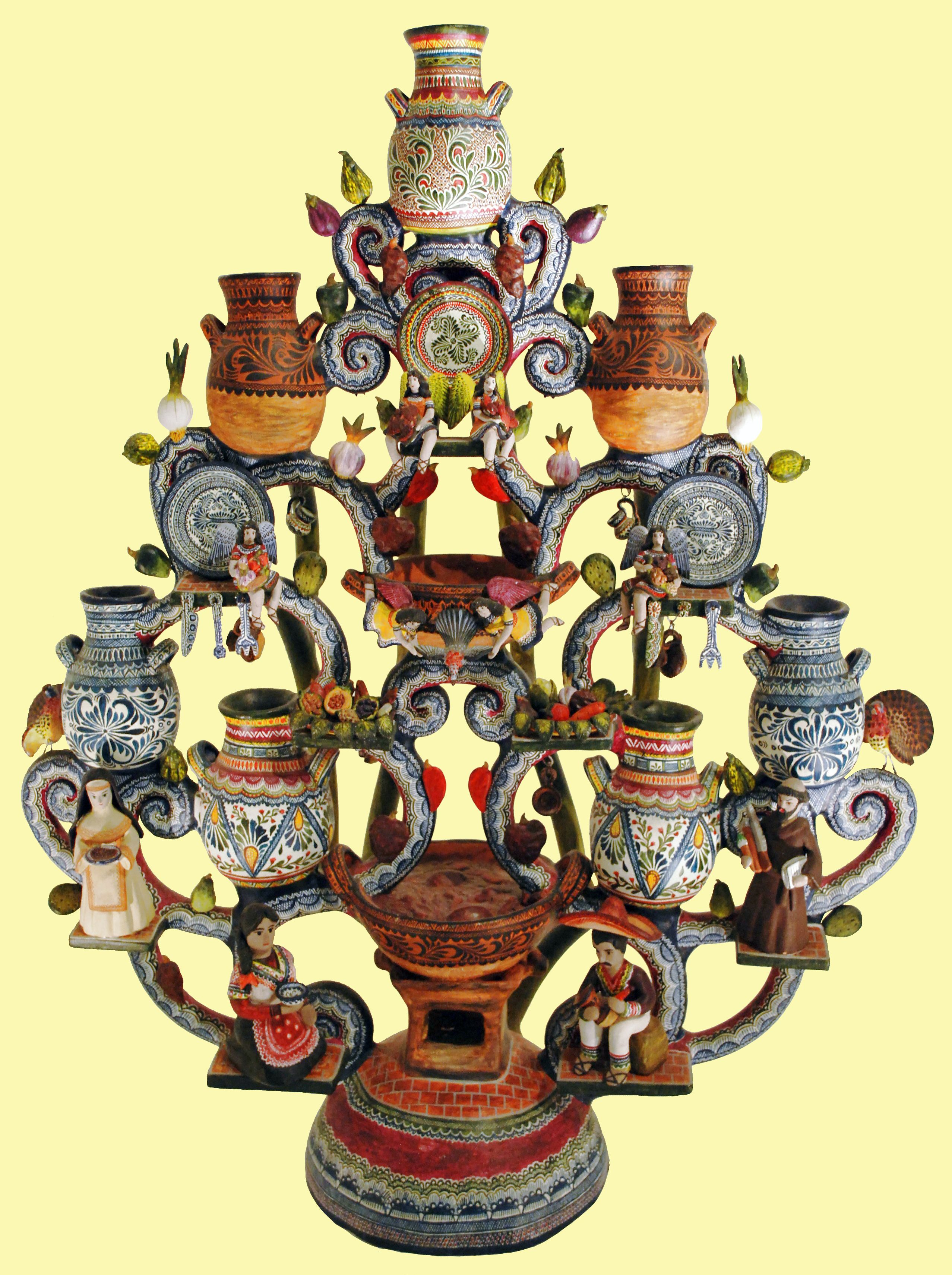 Mexican Tree of Life: Talavera Pottery Tree of Life by Aldonso ...