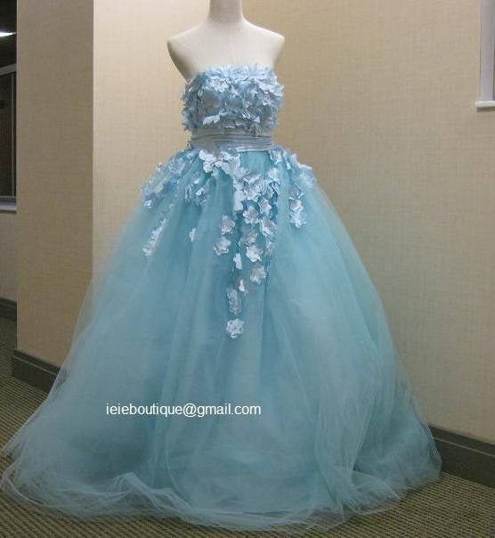 CM1031 Powder Blue Wedding Gown Reception Dress Blue wedding