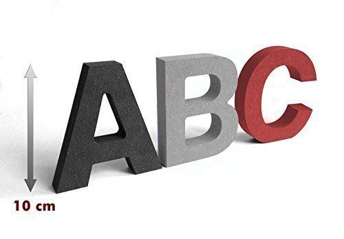MDF-Holzbuchstaben, 10 cm - Farbe: grau - Buchstabe T | DIY ...