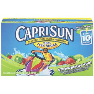 Capri Sun Straw Kiwi Strawberry Kiwi Capri Sun Flavored Drinks