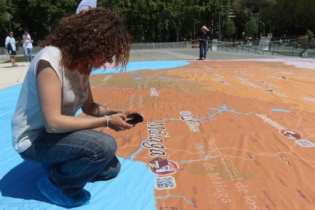 La Andaluca de Cervantes en el muelle 2 Un mapa gigante