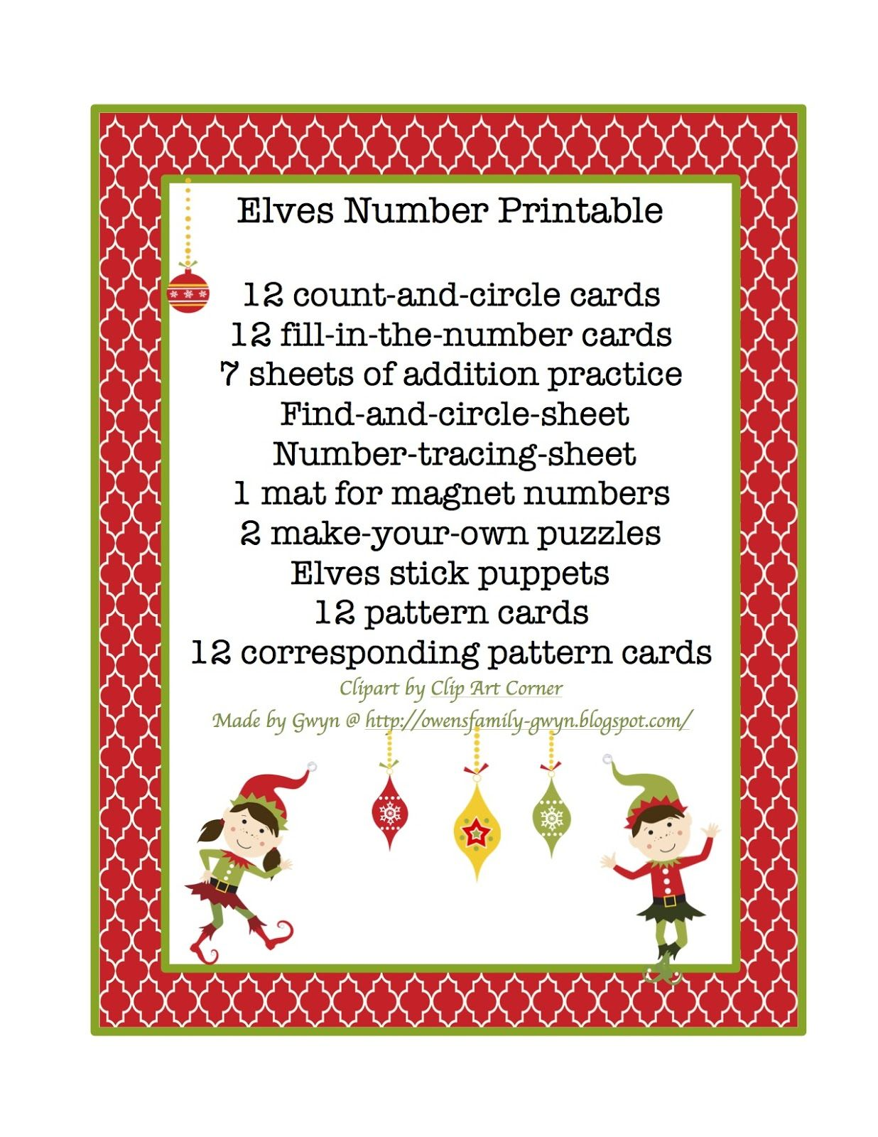 Elves Number Printable 24 Pages Of Math Exercises