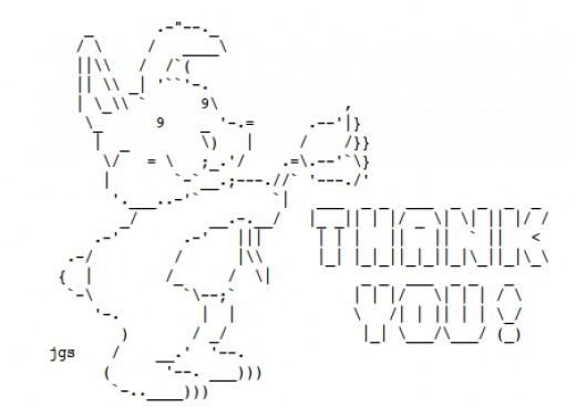 ascii text art for sending a thank you friendship appreciation and