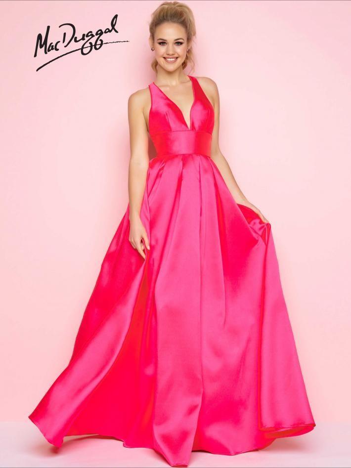 Satin Floor Length Prom Dress | Mac Duggal 25534L #SS17 #prom2017 ...