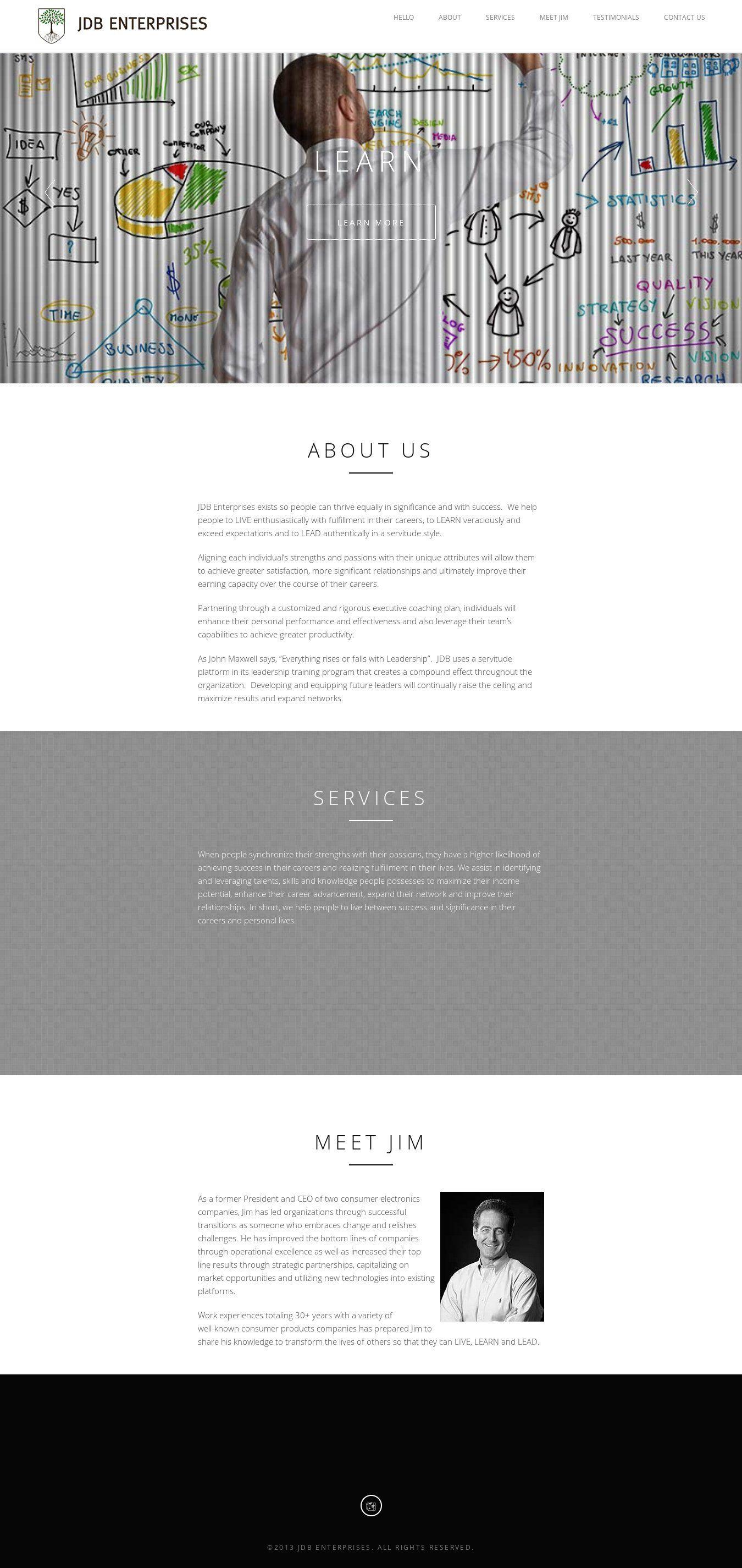 WordPress site jdbenterprises.net uses the