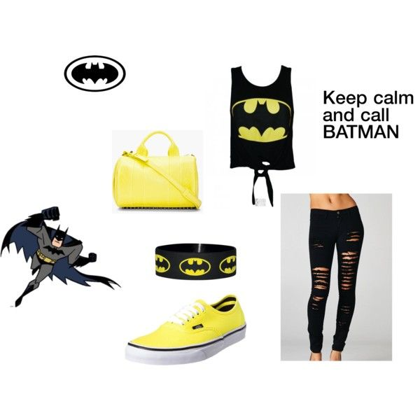 """""""Keep calm and call Batman"""" by alinebrehier on Polyvore"""