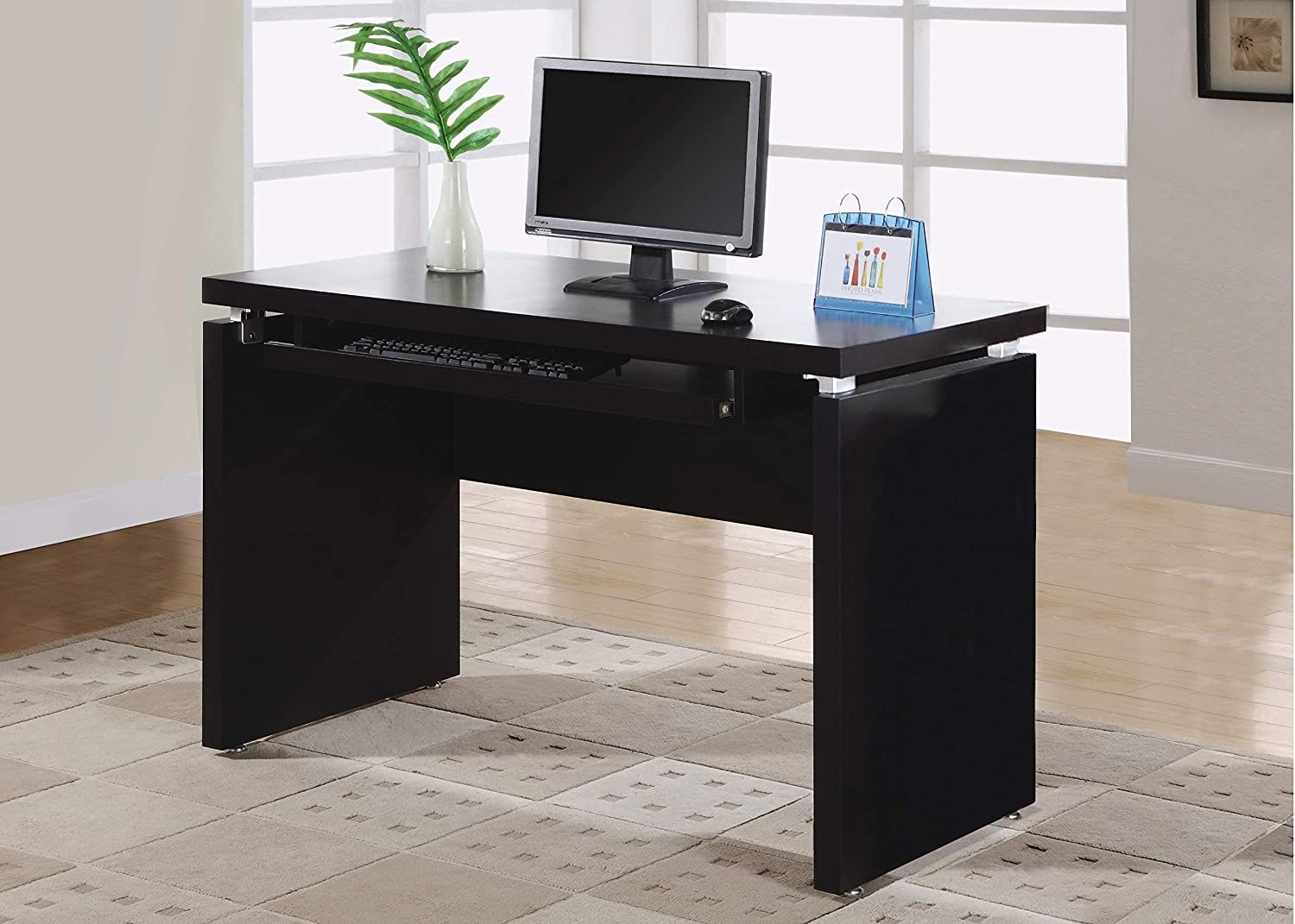 Monarch Specialties PullOut Keyboard Tray Computer Desk