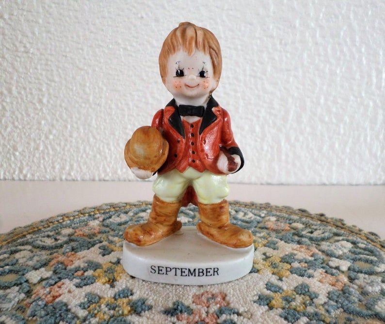 Vintage September Boy Figurine Boy In Fox Hunting Dress Etsy Hunting Dress September Birthday Figurines