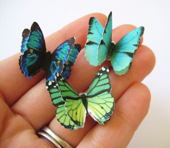 Hair Bow Set Butterfly Clips Set of 3 Butterfly Hair Clips Hair Accessories For Women