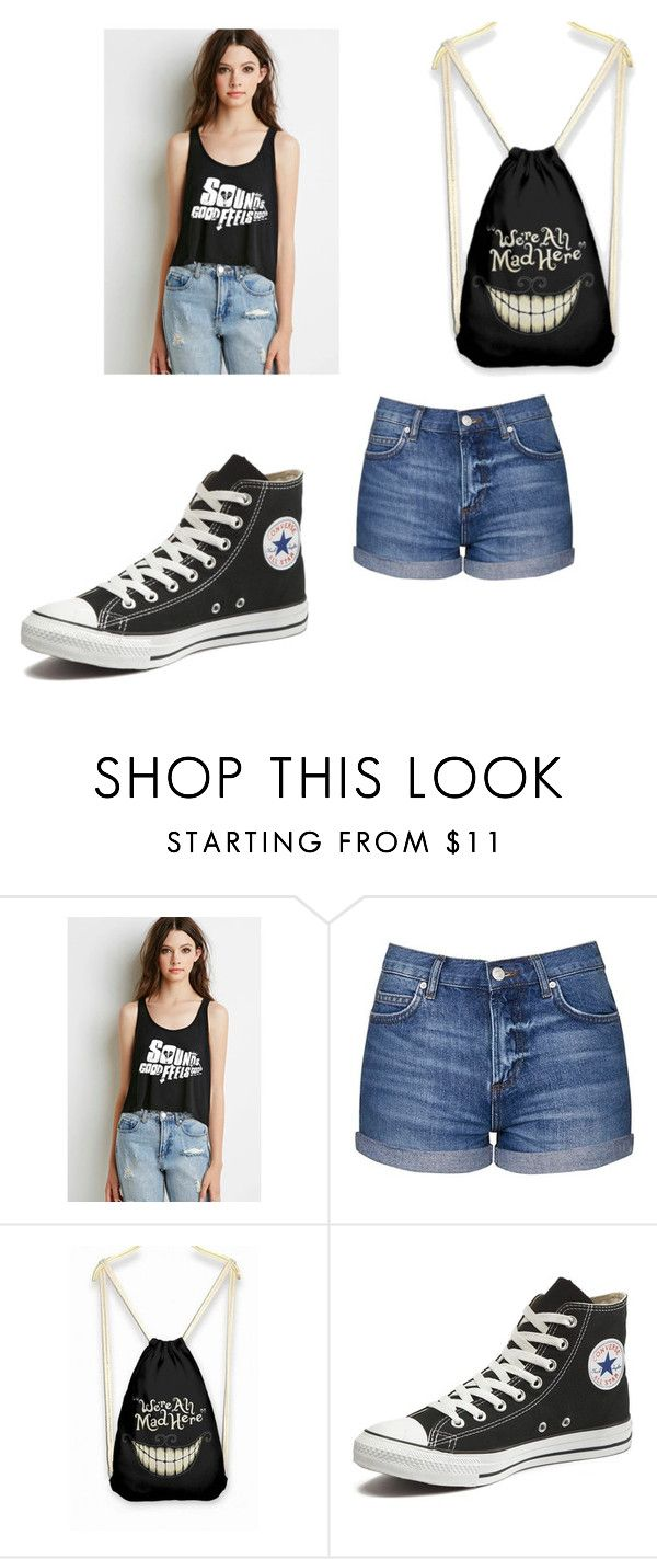 """""""5sos"""" by saanvim on Polyvore featuring Topshop and Converse"""