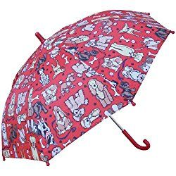 "Kids CATS Pink Blue Print  Rain Sun  Umbrella NEW 34/"" Arc  Manual Open"