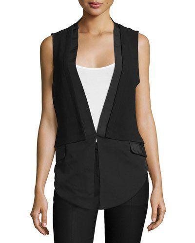 1d0da18a53e TBY3F Haute Hippie V-Neck Combo Vest, Black   I want. Add to cart ...