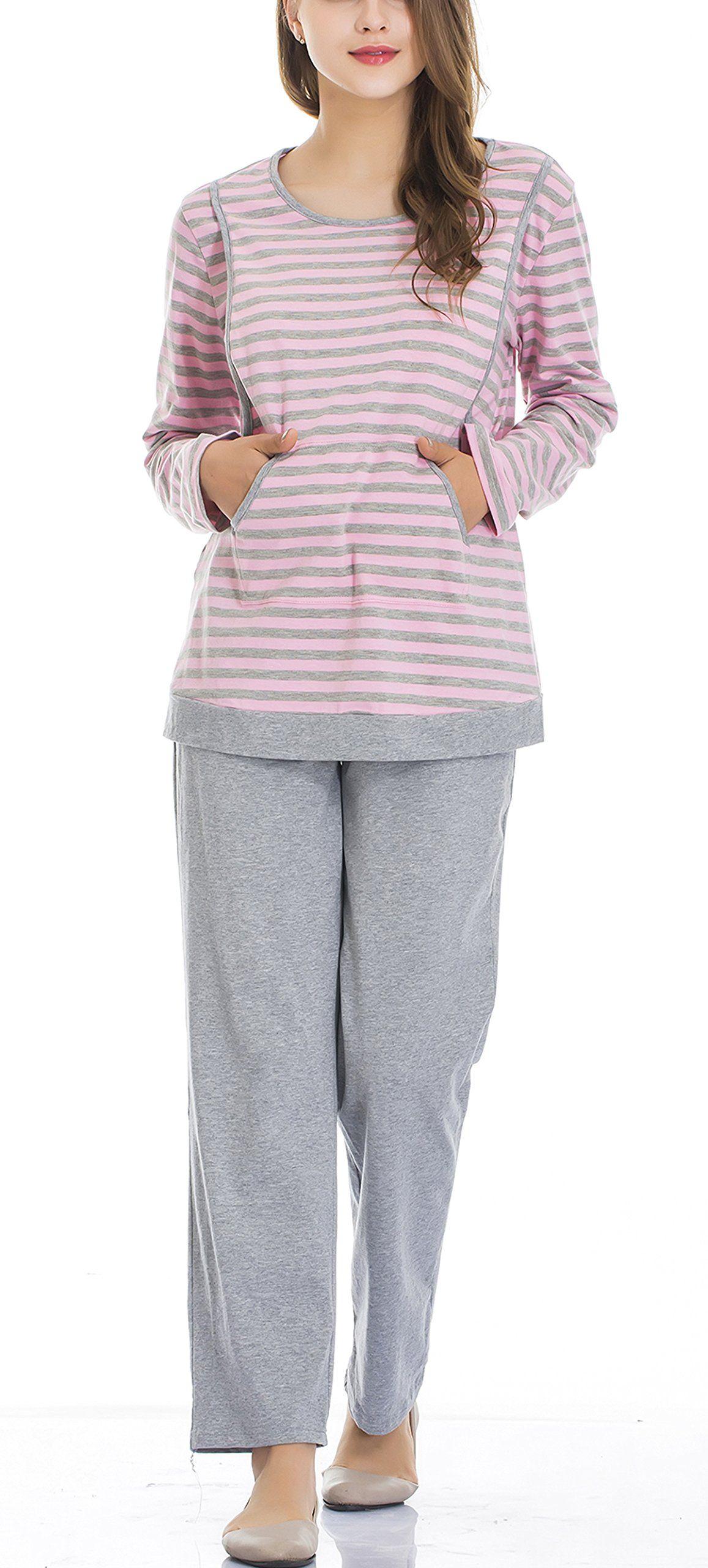 672d605db763b nursing tops - Epmami Womens Nursing Pajamas Maternity Breastfeeding  Pajamas/pjs Sets Pink Size Medium * You can get additional details at the  photo link.