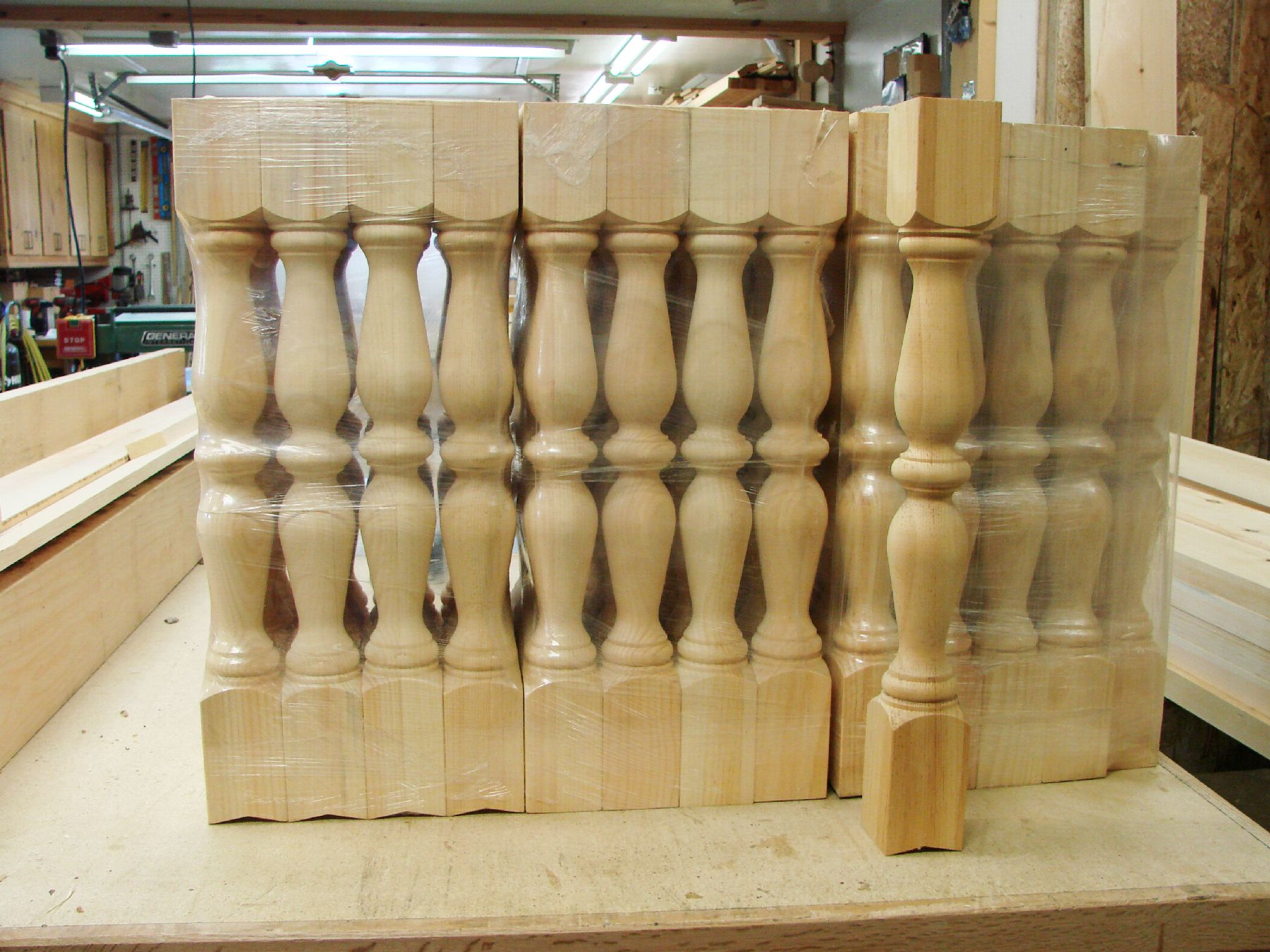 Wood Spindles We Can Make Whatever Size You Need Shown