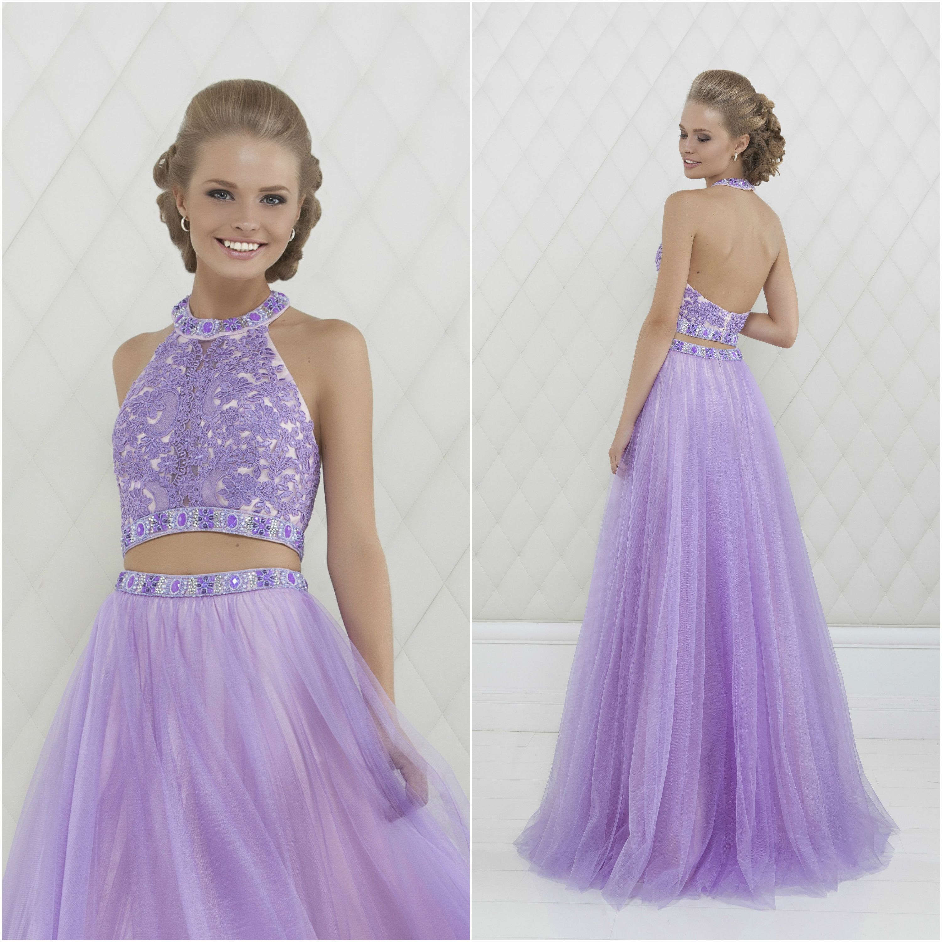 Be the first to pay attention at. Lilac dress for a prom. Exquisite ...