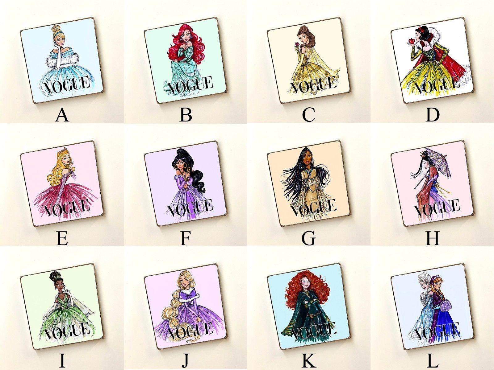 Disney Princesses Magazine Cover Art Cupboard Wardrobe Fridge Magnets