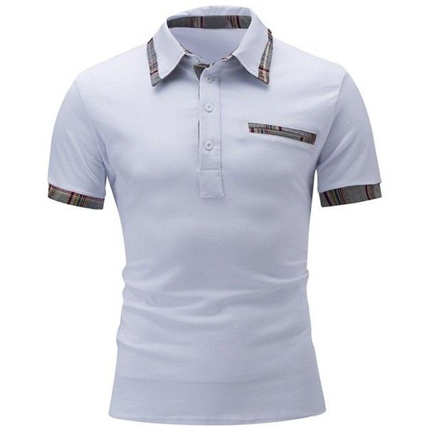 Color Block Polo Shirt (34 BAM) ❤ liked on Polyvore featuring men s  fashion 7f19f22f72514