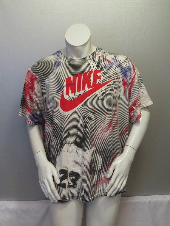 8fd3dbb499840f Vintage Nike Shirt - Michael Jordan Dunk Double Side Graphic - Mens Extra  Large