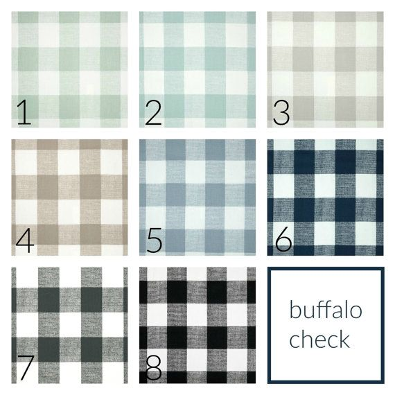 Buffalo Check Drapery Panels. Pair of Two. 63 84 90 96 108 Length ...