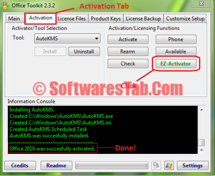 microsoft office 2010 crack activator