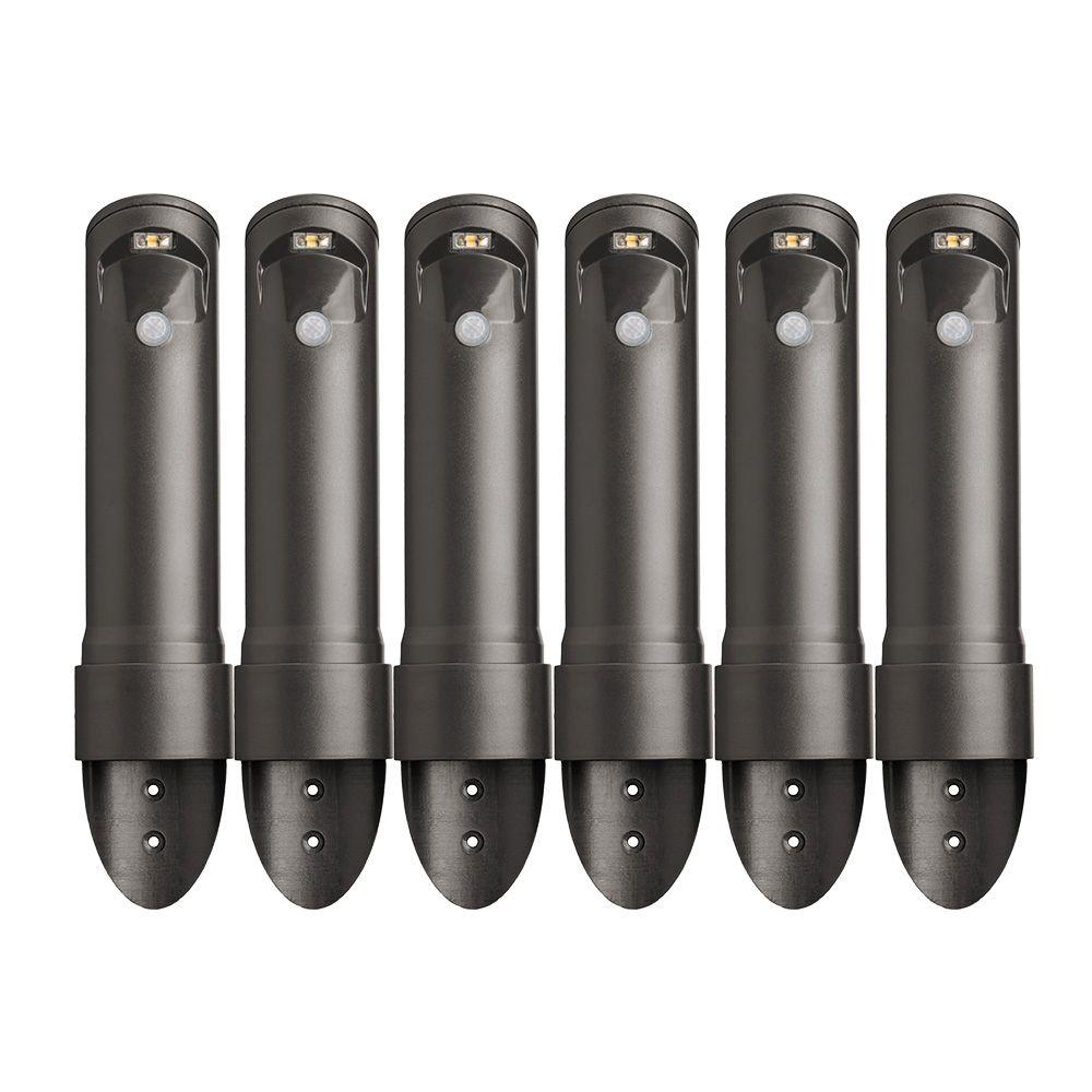 Mr Beams Wireless Bronze Motion Sensing Outdoor Integrated Led Pathway Lights 6 Pack Mb566 The Home Depot Outdoor Path Lighting Mr Beams Outdoor Pathway Lighting