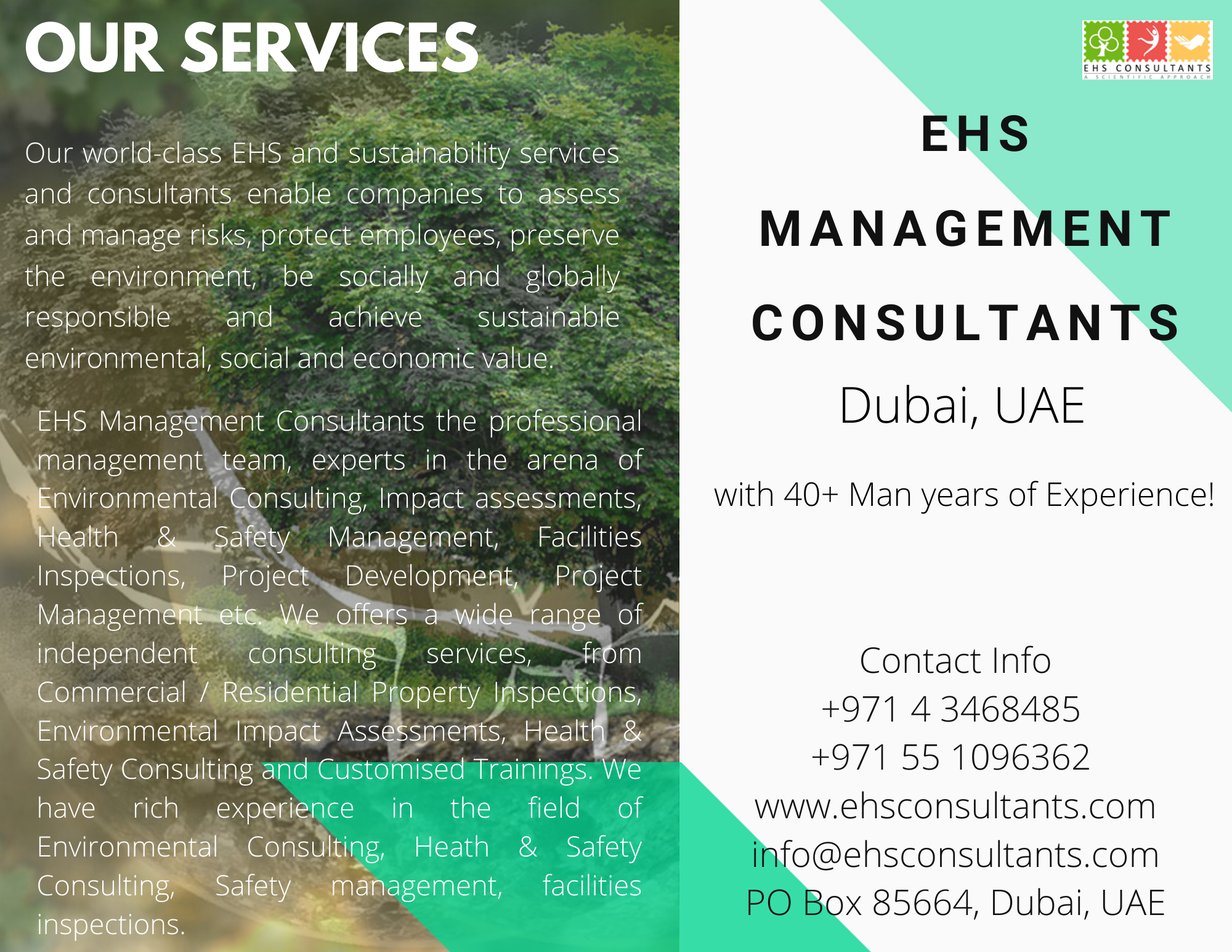 EHS Management Consultants the professional management