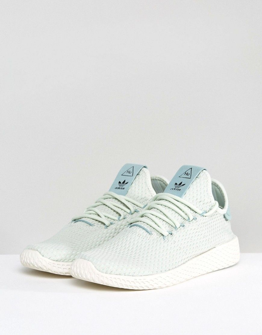 85fe35a3d6d11 adidas Originals X Pharrell Williams Tennis HU Sneakers In Pale Green