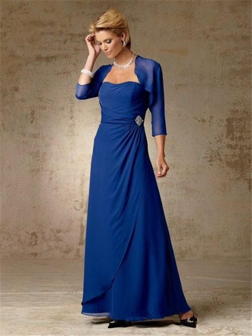 Roya Blue Mother Of The Bride Dresses Line Long Royal
