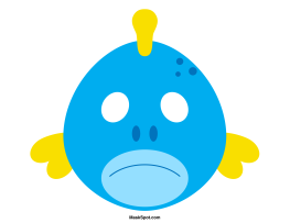 Fish Mask Templates Including A Coloring Page Version Of The Free Printable PDF At