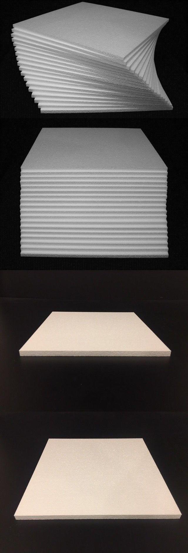 Foam Sheets 8434 24 Pcs 12 X 12 X 1 2 Styrofoam Polystyrene Flats Sheets New Buy It Now Only 22 95 On Ebay