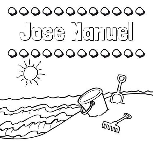Nombres en la playa: dibujos para colorear | Fichas ingles | Pinterest