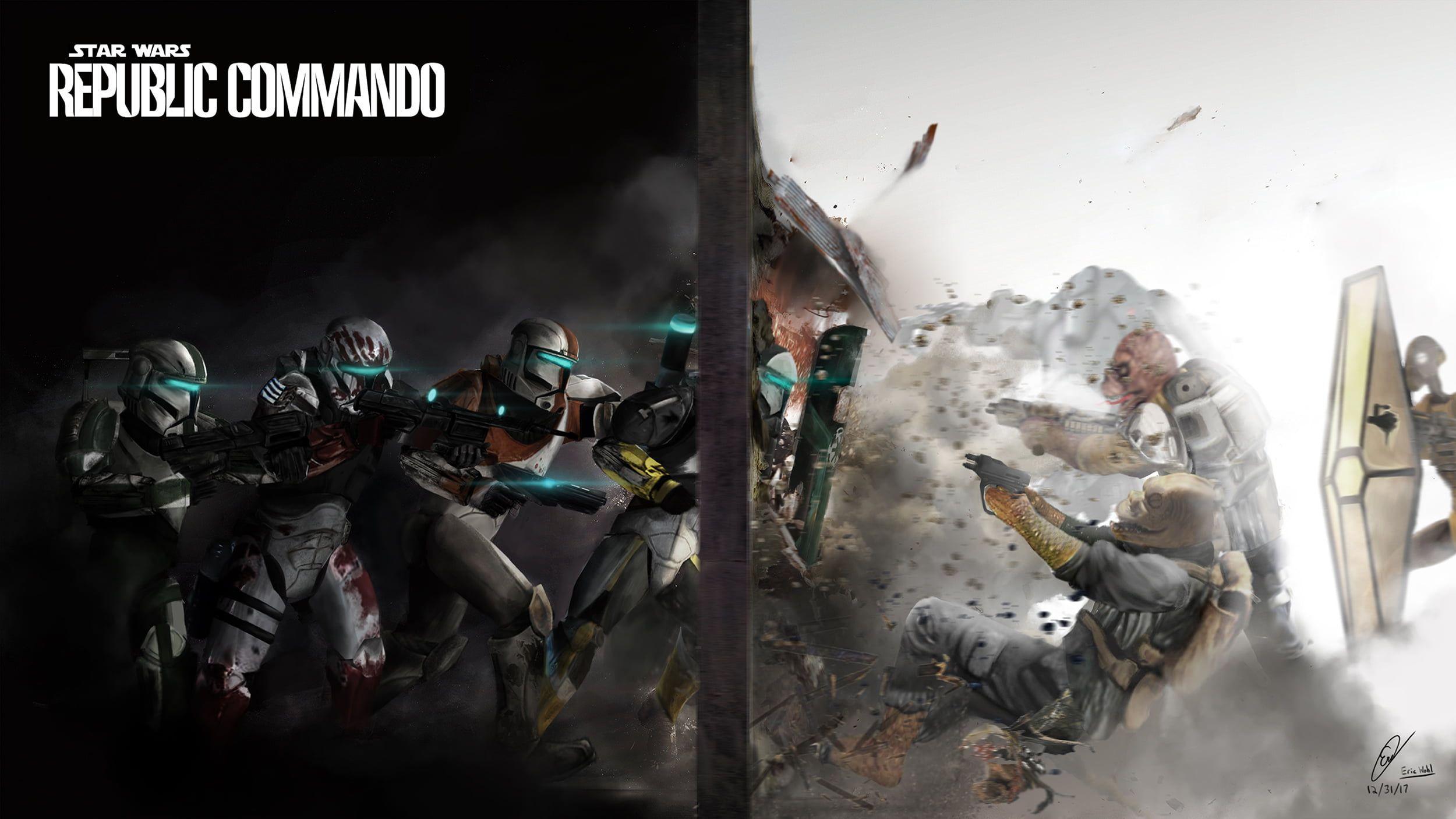 Star Wars Republic Commando Digital Wallpaper Video Games Rainbow