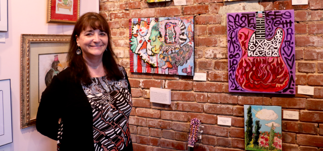 """Ellen Heavilon was on an errand to gather supplies for the community kitchen when she spotted a homeless man painting on Main Street. That inspiring moment fueled her ambition to create an unconventional art gallery. Today, she is the owner of Hart Gallery TN, supplying classes and art supplies to over 100 non-traditional artists in the community. """"Homelessness is just a housing condition. It's not a personality trait.""""http://bit.ly/1oDCMRd"""