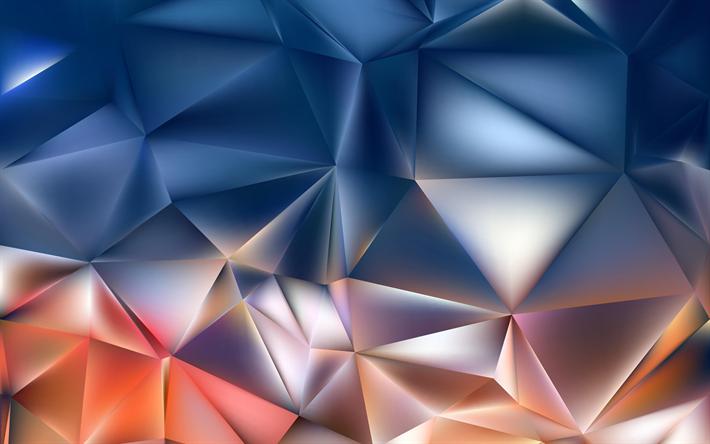 3d 4k Fbb Wallpaper T 233 L 233 Charger Fonds D 233 Cran Des Triangles Des Polygones 4k