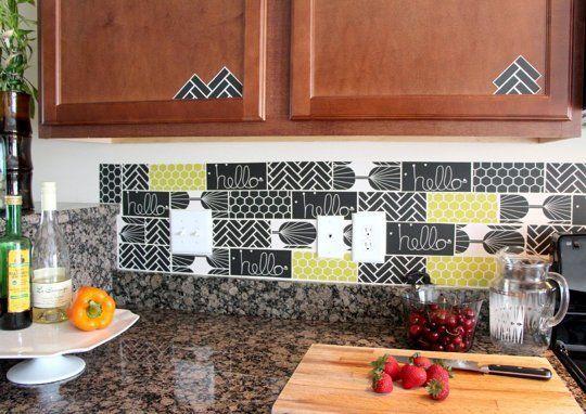 15 Ideas For Removable Diy Kitchen Backsplashes Unique Kitchen
